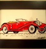 Vintage car - red Created By Swapna namboodiri Posted By Glassy Dreamz