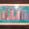 Handpainted Doha Skyline- Daylight Created By Swapna namboodiri Posted By Glassy Dreamz