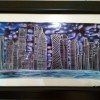 Handpainted Doha Skyline-  Night view Created By Swapna namboodiri Posted By Glassy Dreamz