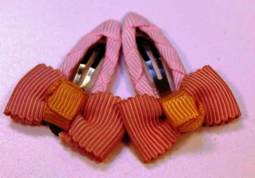 Handmade Hair Clips Created By  Posted By Nkid Hand Embroidery
