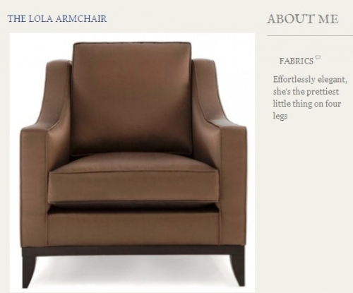 The Lola Armchair Created By  Posted By Origins