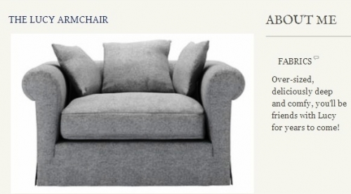 The Lucy Armchair Created By  Posted By Origins