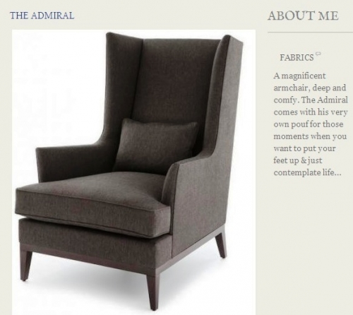 The Admiral Armchair Created By  Posted By Origins