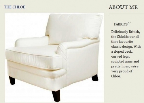 The Chloe Armchair Created By  Posted By Origins