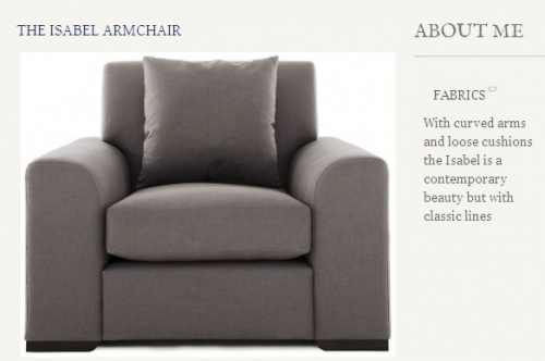 The Isabel Armchair Created By  Posted By Origins