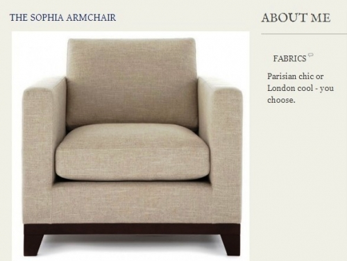 The Sophia Armchair Created By  Posted By Origins