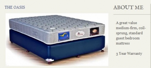 The Oasis Mattress Created By  Posted By Origins