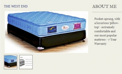 The West End Mattress Created By  Posted By Origins