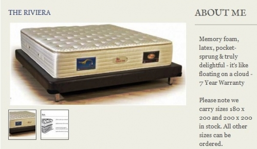 The Riviera Mattress Created By  Posted By Origins