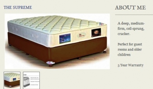 The Supreme Mattress Created By  Posted By Origins
