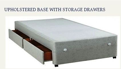 Upholstered Base with Storage Drawers Created By  Posted By Origins