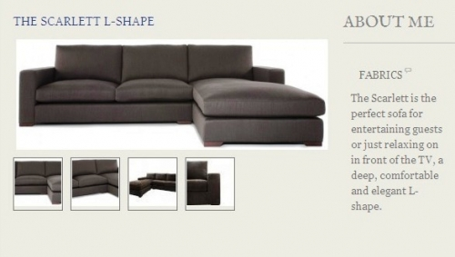 The Scarlett L-Shape Sofa Created By  Posted By Origins