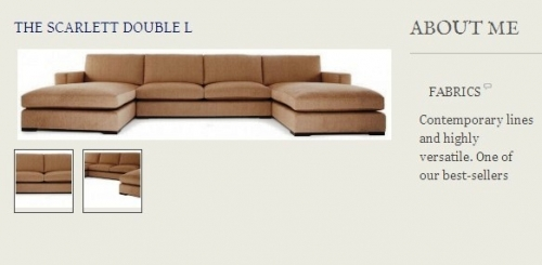 The Scarlet Double L Sofa Created By  Posted By Origins