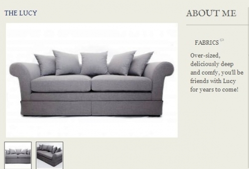 The Lucy Sofa Created By  Posted By Origins