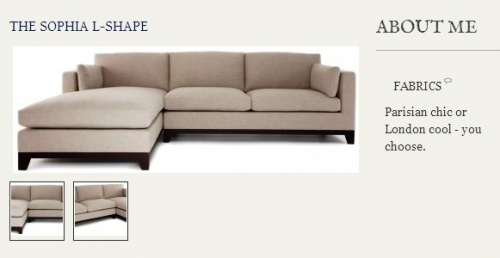 The Sophia L-Shape Sofa Created By  Posted By Origins