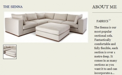 The Sienna Sofa Created By  Posted By Origins