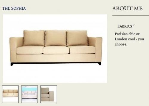 The Sophia Sofa Created By  Posted By Origins