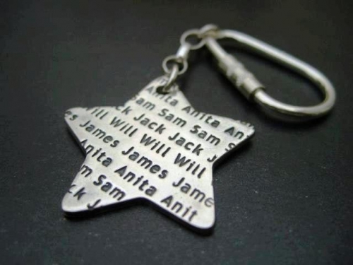 lovely star keyring from the Tribes range Created By Milly Larmer Posted By Small Print