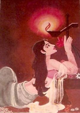 LADY AND THE LAMP Created By  Posted By Sanjaya Chapolkar