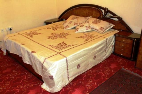 Pure Silk with silk Embroidery Bed Spreads Created By Kashmir Handicrafts Emporium Posted By The Rugman