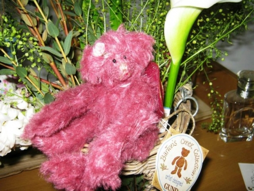 Meggy Pink Mohair Bear Created By  Posted By Frandoras Box