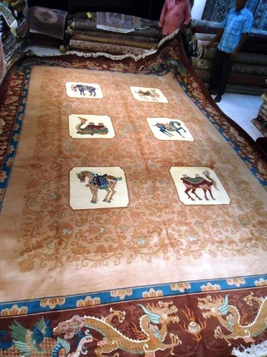 Brown and red Chinese carpet Created By  Posted By Oriental Carpet Company