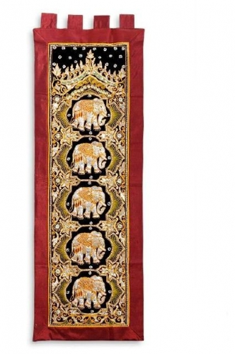 Burma Elephant Wall Hanging Created By  Posted By Oriental Carpet Company