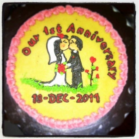 1st Anniversary Cake Created By  Posted By Saumi Cake Delights