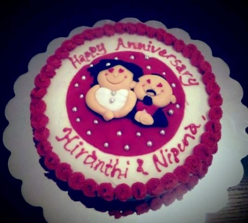 Anniversary Cakes Created By  Posted By Saumi Cake Delights