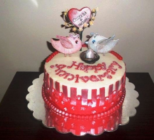 Happy Anniversary Cake Created By  Posted By Saumi Cake Delights