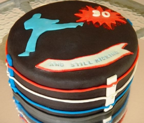 Kick Boxing Cake Created By  Posted By Easy Partys