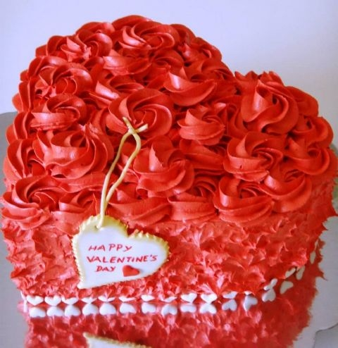 Happy Valentine Cake Created By  Posted By Easy Partys