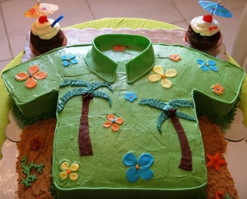 Luau Theme Cake Created By  Posted By Easy Partys