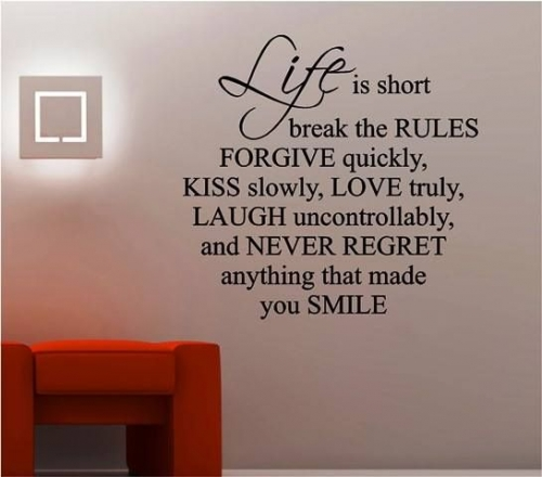Life Is Short Created By  Posted By Big N Small Wall Decals