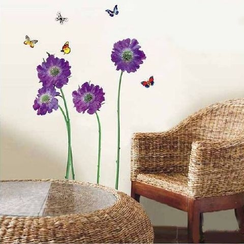 Purple Flowers Created By  Posted By Big N Small Wall Decals