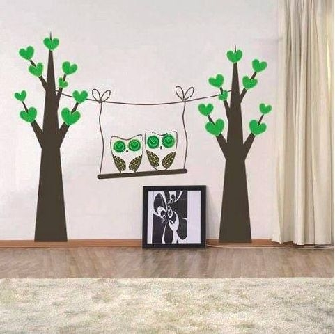 Owls on a Swing Created By  Posted By Big N Small Wall Decals