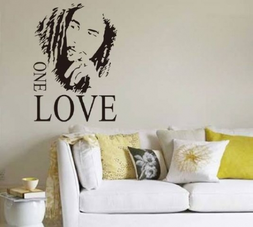 One Love (Bob Marley) Created By  Posted By Big N Small Wall Decals