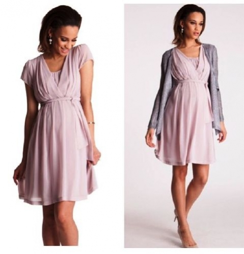 Blush Pink Maternity and Nursing Dress Created By  Posted By Babybump.qtr