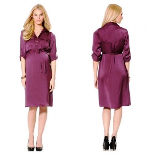 Button Front Maternity Shirt Dress Created By  Posted By Babybump.qtr