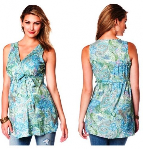 Sleeveless Maternity Tank Top Created By  Posted By Babybump.qtr