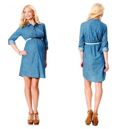 Belted Maternity Shirt Dress Created By  Posted By Babybump.qtr