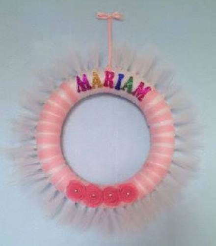 Tulle Wrapped Wreath Created By Basket Of Joy Posted By Basket of Joy