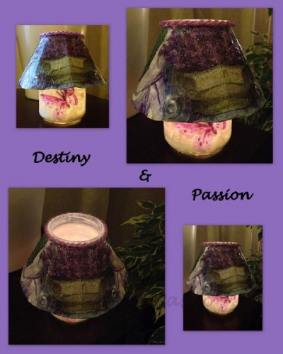 Lantern Jar and decoupage Created By  Posted By Destiny And Passion