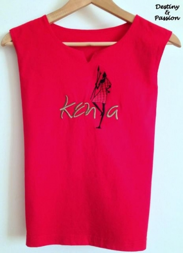 Handmade t-shirt - Kenya Created By  Posted By Destiny And Passion
