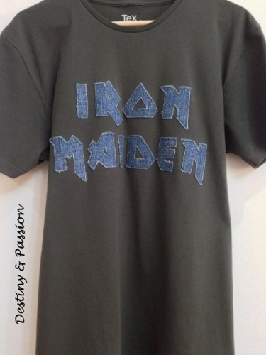 Handmade music t-shirt - Iron Maiden Created By  Posted By Destiny And Passion