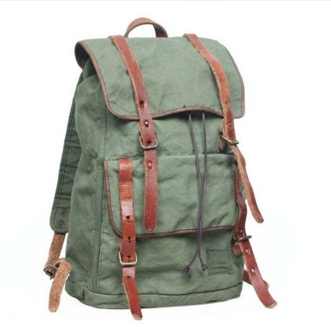 Canvas Backpacks Greens Created By  Posted By Virginstone Bracelets And Cardinal Eyewear