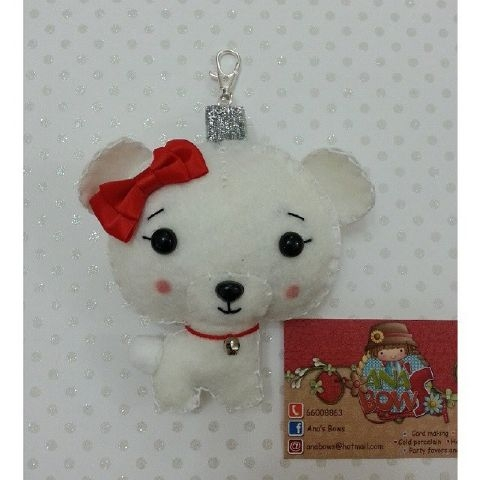 Scented Polar Bear keychain Created By Ana's Bows Posted By Ana's Bows