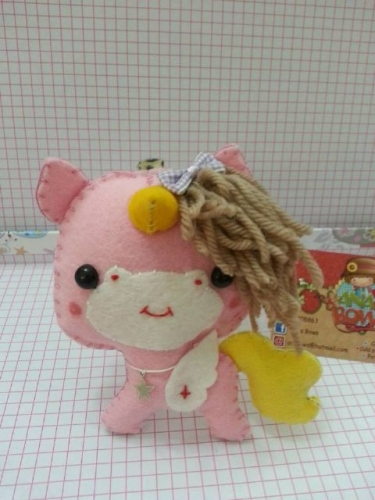 Unicorn key chain Created By  Posted By Ana's Bows