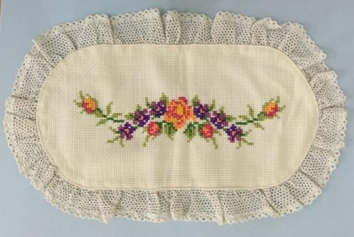Cross Stitch Table Cover Created By Khairiyah Posted By Maher & Valentino