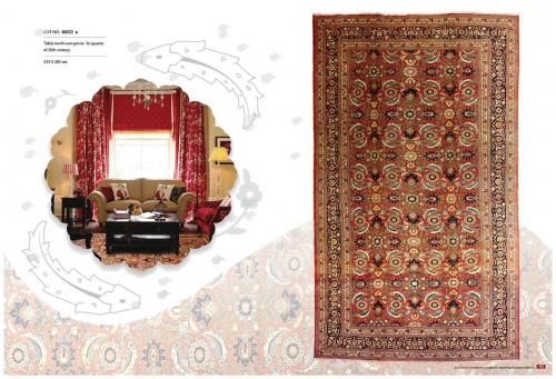 OLD LARGE SIZE SALON CARPETS, LOT NO. 16022 TABRIZ NORTH WEST PERSIA 1ST QUARTER OF 20TH CENTURY  535 X 305 CM  READY TO USE. Created By Sameyeh Posted By Sh.Sameyeh Pte Ltd